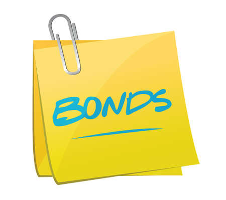 share prices: bonds post illustration design over a white background