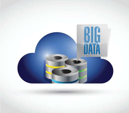 big data server cloud illustration design over a white background Stock Photo