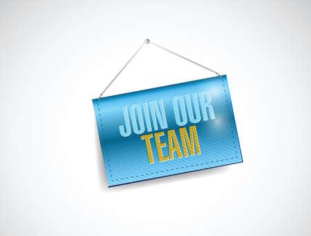 join our team banner illustration design over a white background illustration
