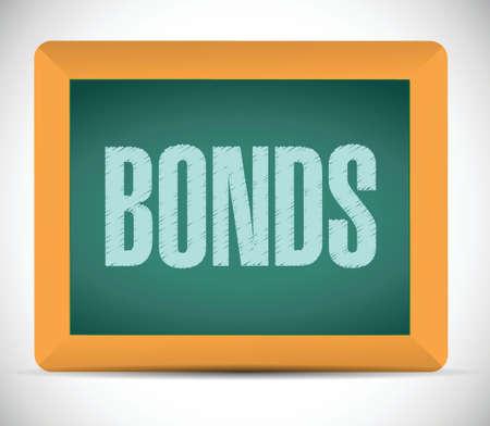 bonds sign on a board. illustration design over a white background illustration