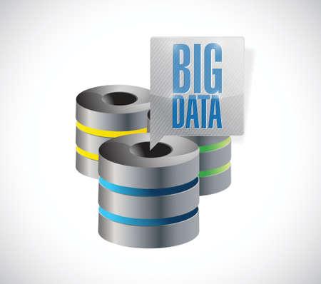 big data servers illustration design over a white background Stock Photo