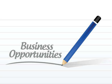 business opportunities message illustration design over a white background