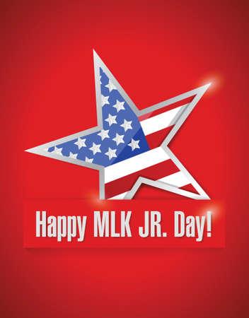 martin: szczęśliwa MLK jr dni projektowania ilustracji na czerwonym tle