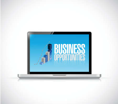 business opportunities computer illustration design over a white background