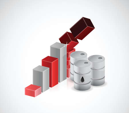 falling oil prices illustration design over a white background