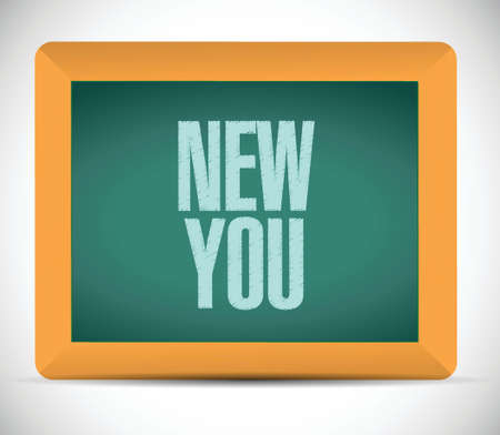 new you sign on a board illustration design over a white background 矢量图像