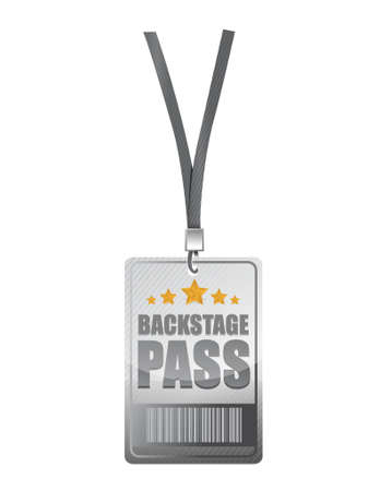 backstage pass illustration design over a white background