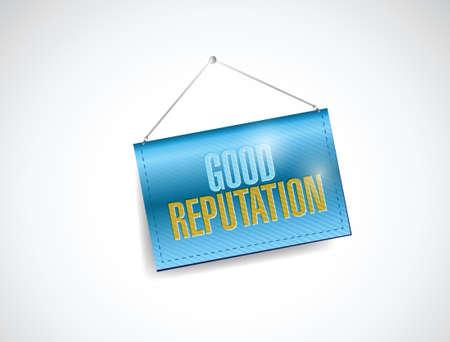 good reputation banner illustration design over a white background