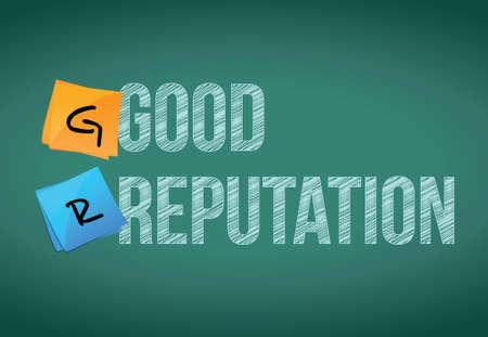 violation: good reputation post illustration design over chalkboard background Illustration