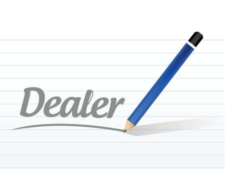 dealership: dealer message sign illustration design over a white background