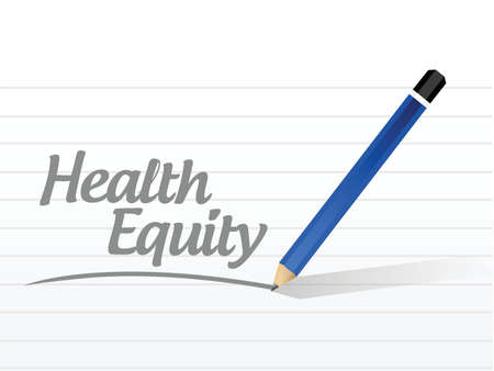 health equity: health equity message illustration design over a white background