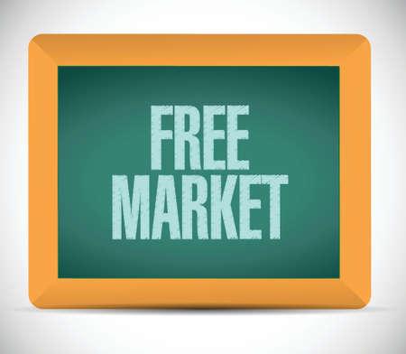regulated: free market illustration design over a white background