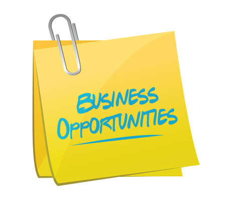 business opportunities memo post illustration design over a white background