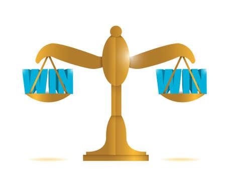 win win balans illustratie ontwerp op een witte achtergrond