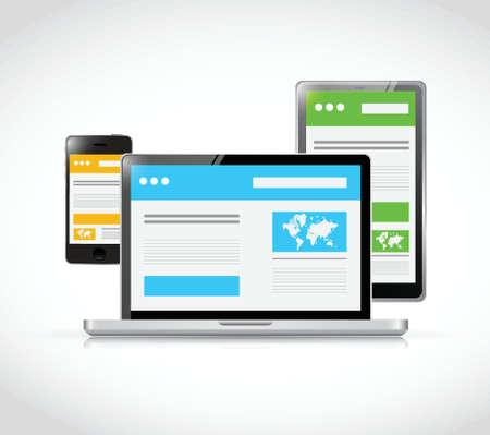 web site design: web design templates design. illustration design over a white background Illustration