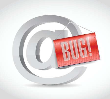at internet bug sign illustration design over a white background Vector