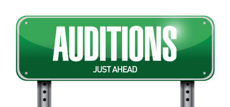 film role: auditions sign illustration design over a white background