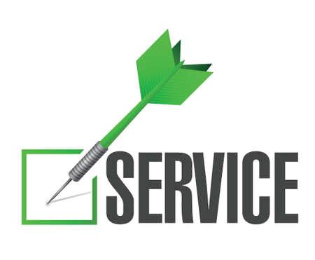 service dart check mark illustration design over a white background Illusztráció