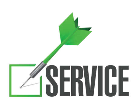 service dart check mark illustration design over a white background Illustration