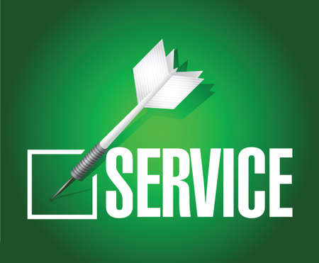 service dart check mark illustration design over a green background Vector