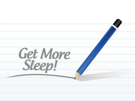 get more sleep message illustration design over a white background