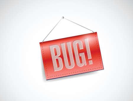 bug banner illustration design over a white background Vector