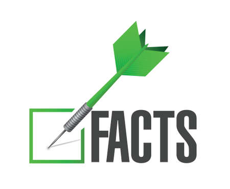 facts dart illustration check mark illustration design over a white background Stock Illustratie