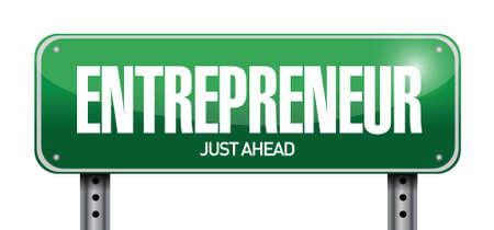 emprendimiento: signo empresario dise�o ilustraci�n sobre un fondo blanco