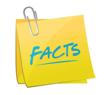 facts post memo illustration design over a white background