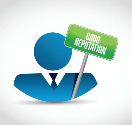 good reputation avatar illustration design over a white background Illusztráció