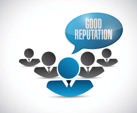 reputation: good reputation people network illustration design over a white background Illustration