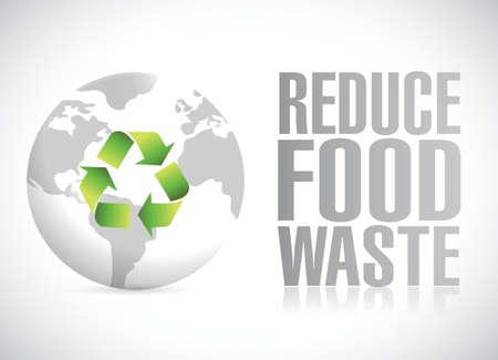 eco notice: reduce food waste illustration design over a white background Illustration