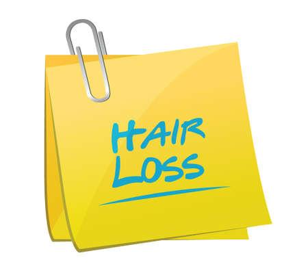 hair loss post illustration design over a white background Stock Illustratie