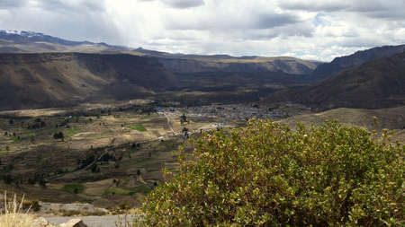 civilization: Colca Canyon one of the deepest canyons in the world, Peru Stock Photo
