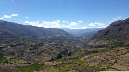 the deepest: Colca Canyon one of the deepest canyons in the world, Peru Stock Photo
