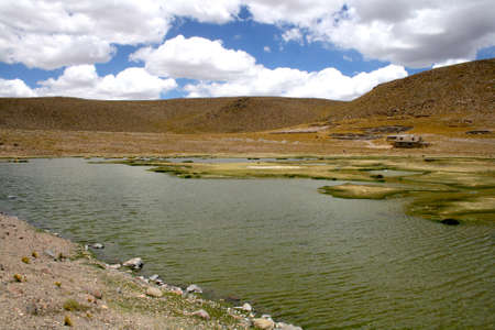 thermal spring: Thermal spring in the volcano. Peru south america