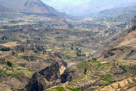 deepest: Colca Canyon one of the deepest canyons in the world, Peru Stock Photo