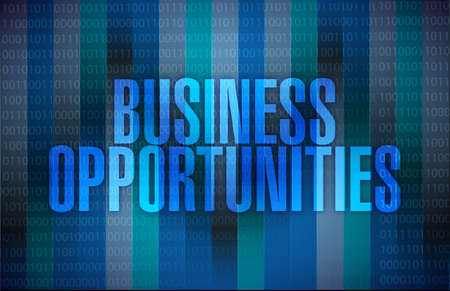 multilevel: business opportunities message illustration design over a binary background