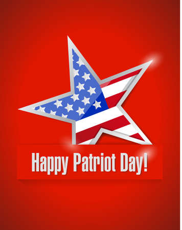11th: happy patriot day illustration design over a red background