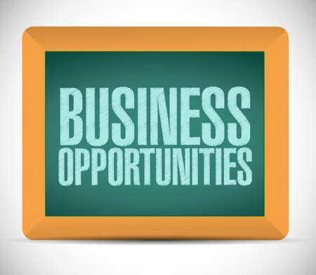 business opportunities sign message illustration design over a white background