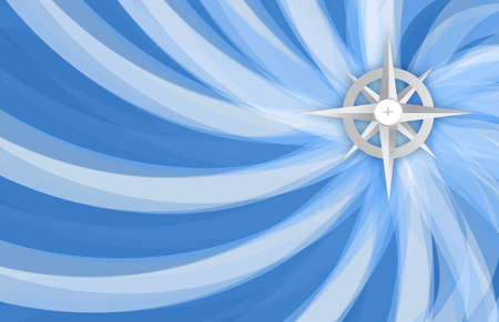 compass rose: grey compass illustration design over a blue background Stock Photo