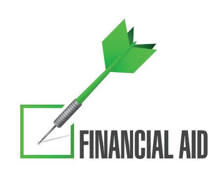 Ayuda financiera marca de verificación de diseño ilustración sobre un fondo blanco Foto de archivo - 34234921