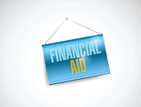 financial aid banner illustration design over a white background