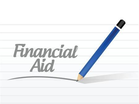 financial aid message illustration design over a white background Ilustração