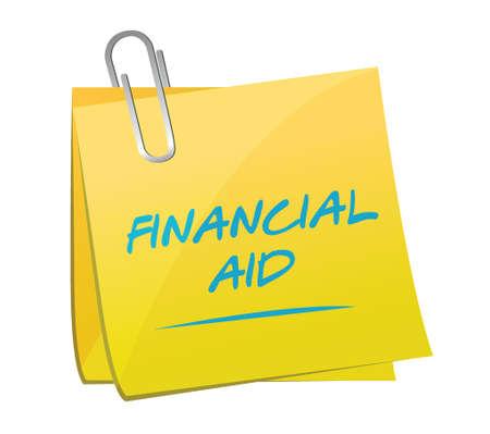 financial aid memo post illustration design over a white background Ilustração