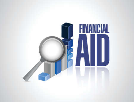 financial aid business graph illustration design over a white background Ilustração