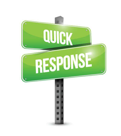 quick response: quick response sign illustration design over a white background