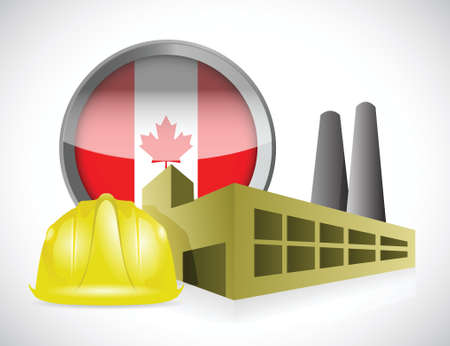 canada factory illustration design over a white background 向量圖像