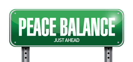 peace balance sign illustration design over a white background