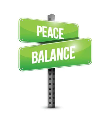 peace balance sign illustration design over a white background